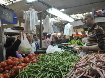 visite du marché de l'abreuvoir ainsi que du nouveau batiment en prévision de son inauguration le 5 juillet, sac en plastique future loi
